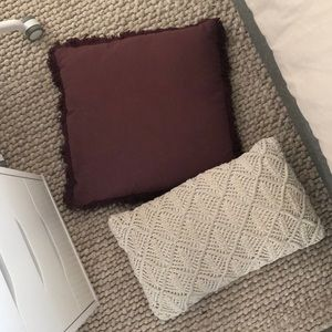 2 pillows from Kmart that match well together!